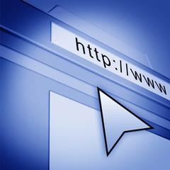 web page with arrow