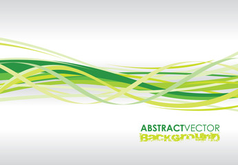 a abstract green spiral line background