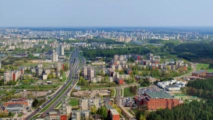 Spring in Vilnius city