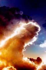 Fototapete - Fire wave in sky