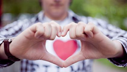 Hand make a heart