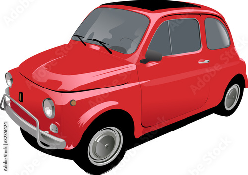 petite voiture citadine rouge fichier vectoriel libre de droits sur la banque d 39 images fotolia. Black Bedroom Furniture Sets. Home Design Ideas