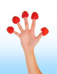 Erdbeerhand