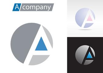 Logo spherical letter A # Vector