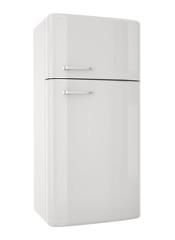 White refrigerator.3D render
