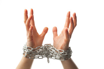 two chained hands