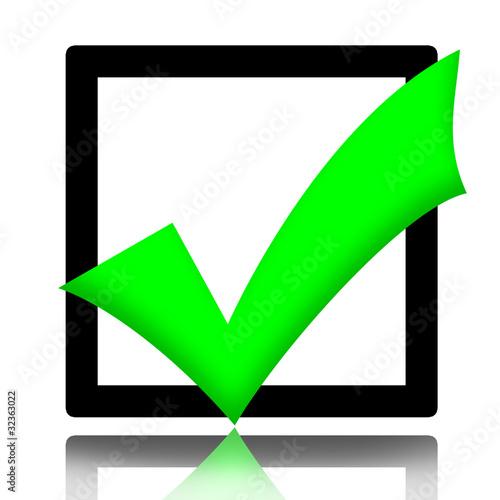 Check Box With Green Check Mark Symbol Stock Photo And Royalty Free