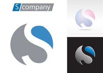 Logo spherical letter S # Vector