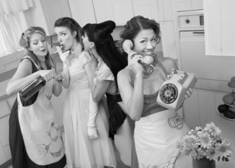 Group Of Retro Housewives