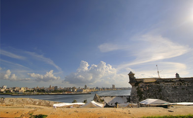 Havana bay entrance from el Morro Fortress