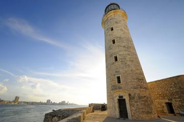 El Morro lighthhouse in Havana bay entrance