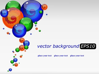 vector background with a colored futuristic drops