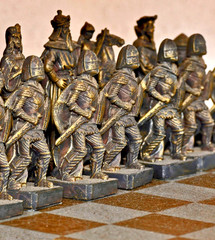 A Chess Army lines up for Battle.