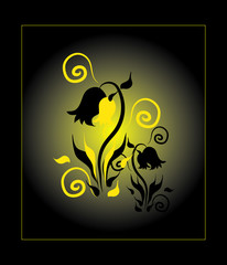 black and yellow flower