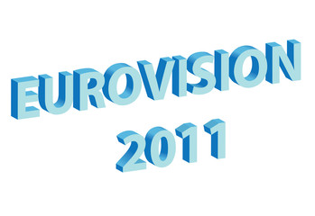 vector illustration of title - eurovision 2011