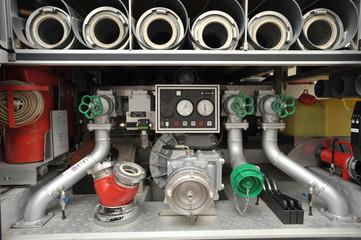 Ausrüstung im Feuerwehrfahrzeug