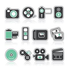 multimedia contour icons
