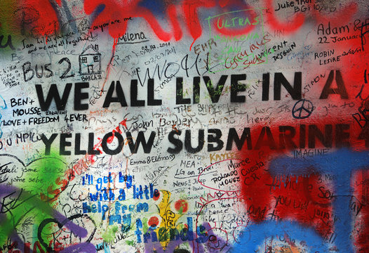 We All Live in a Yellow Submarine Graffiti