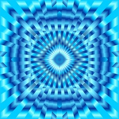 Ipnosi Ipnotico Blu Sfondo-Blue Hypnotic Background-Vector