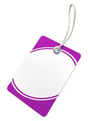 neutrales Label, violett