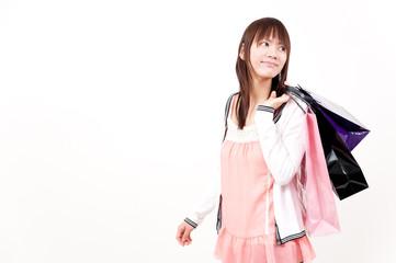 beautiful asian girl in the shopping
