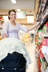 Mother in Supermarket
