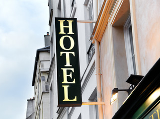 Sign of hotel