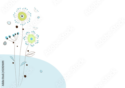 """Fleurs Stylisées fleurs stylisées"""" fichier vectoriel libre de droits sur la banque d"""