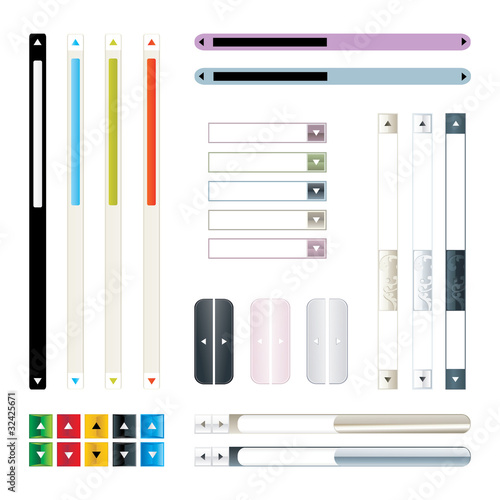 Vector Set Of Scroll Bar For Web Stock Image And Royalty Free