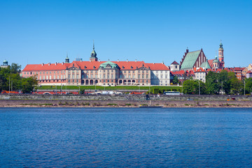 Royal Castle and Vistula River in Warsaw