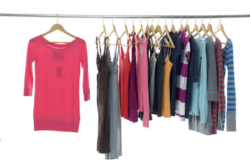 Fashion colorful shirt rack