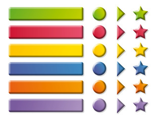 Funny color Buttons and arrows