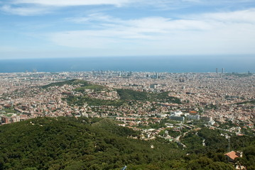 Panorama  Barcelona, Tibidabo mountain