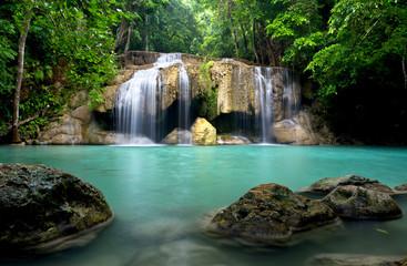 Obraz Waterfall in Kanchanaburi Province,Thailand - fototapety do salonu