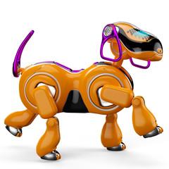 Spoed Foto op Canvas Robots cyborg dog walking