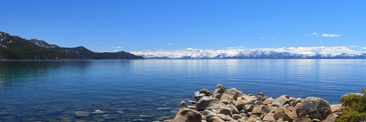 Wall Mural - panoramic view of Lake Tahoe