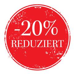 20 Prozent OFF