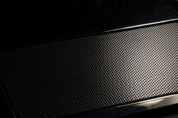 black steel grid