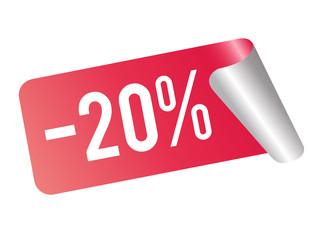 20% Rabatt Sticker