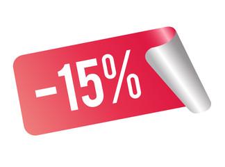 15 % Rabatt Rot