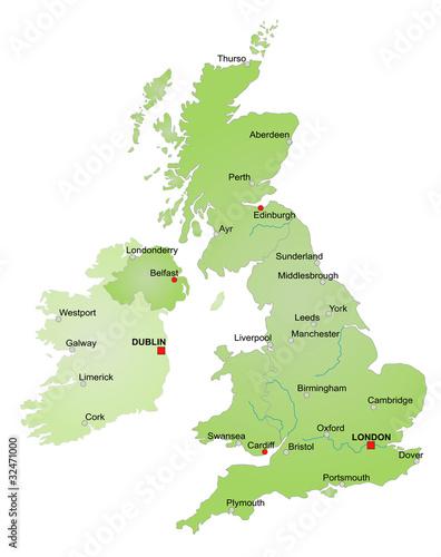 Birmingham Karte.Karte Vereinigtes Königreich Und Irland Vektor Stock Image And