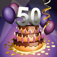 Fiftieth anniversary cake