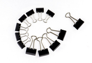 Binder clips in a circle
