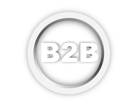 B2B / BtoB - Icon / Button / Symbol | 3D Rendering