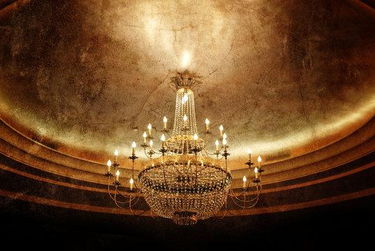grunge chandelier
