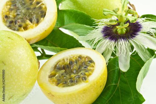 Fruit de la passion passiflore passiflora edulis - Passiflore fruit de la passion ...