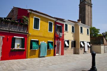 Colorful houses at Burano island