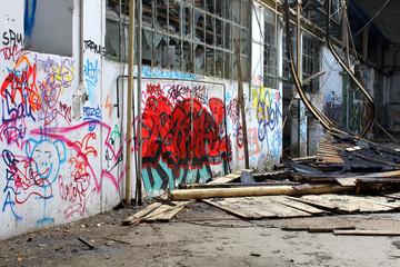 old broken abondoned factory