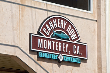 Cannery Row Sign on the Pedestrian Walkway in Monterey Californi