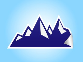 icy mountain sticker